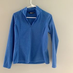 Blue North Face Fleece 1/4 Zip
